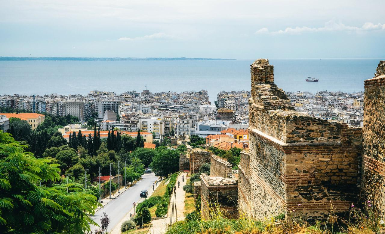 Крепостная стена, Салоники, Греция