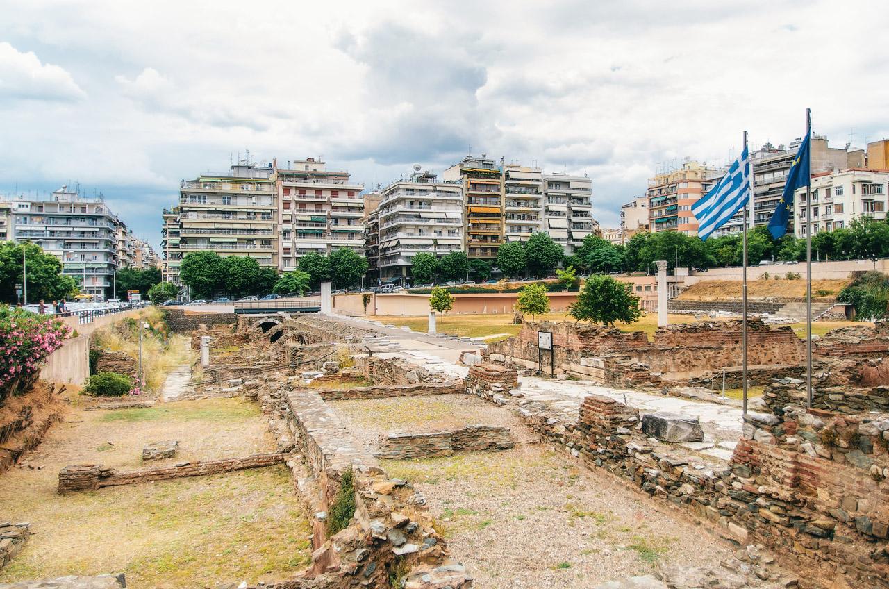 Греческая Агора и Римский Форум, II-III века, Салоники, Греция