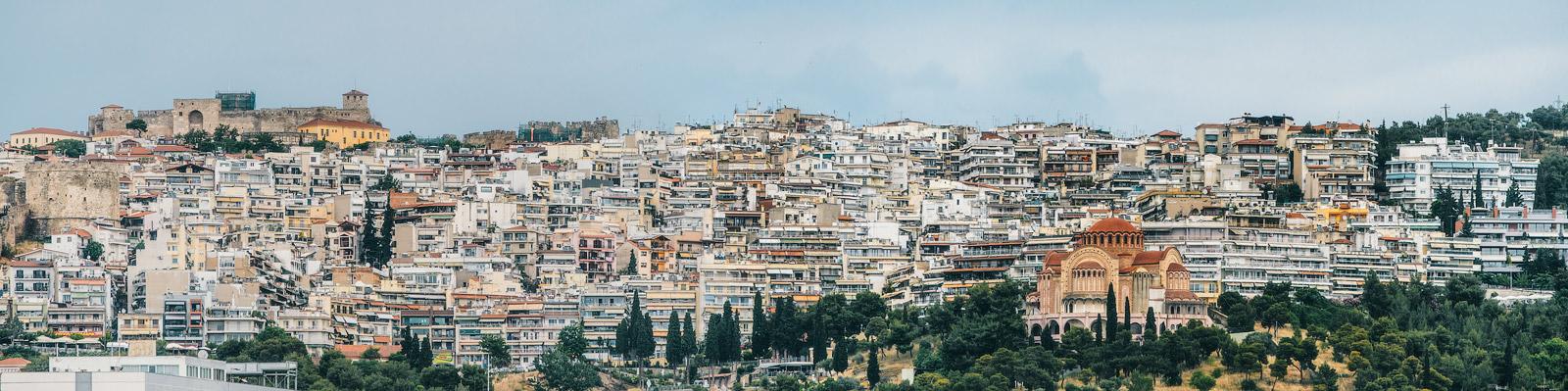 Панорамный вид на Салоники