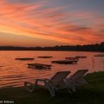 Sventes Rasa — лучшее место для отдыха и наблюдения за закатами у озера Свенте в Латвии
